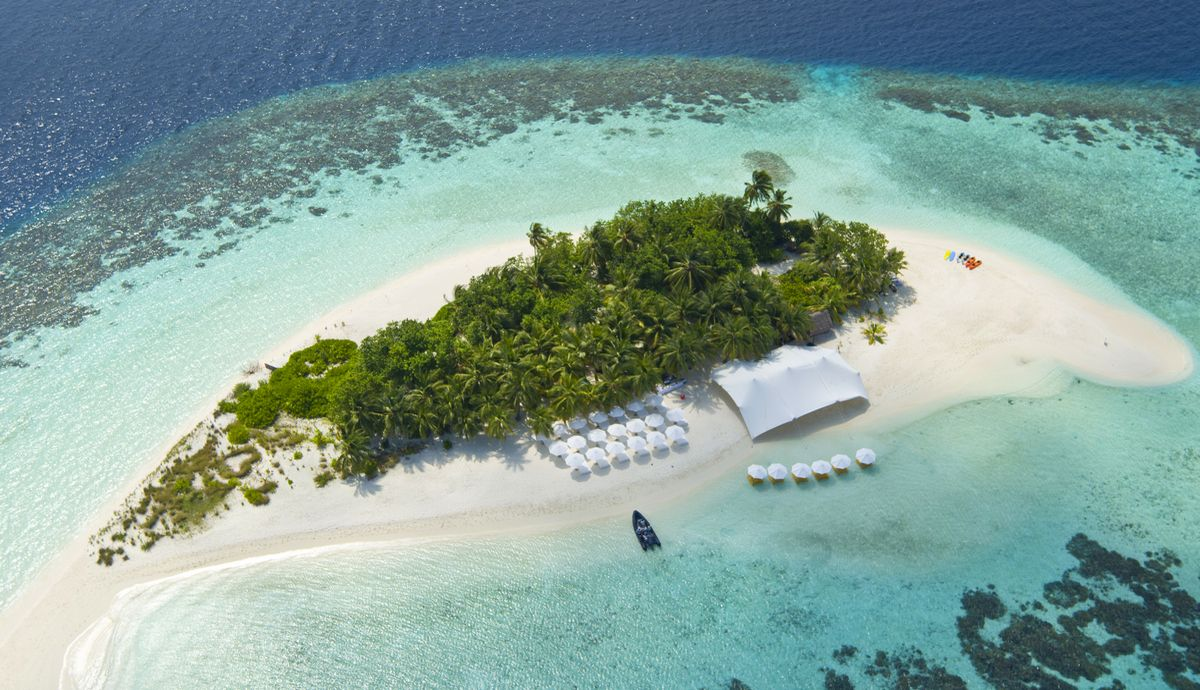 Be spellbound by this secluded private island owned by W Maldives