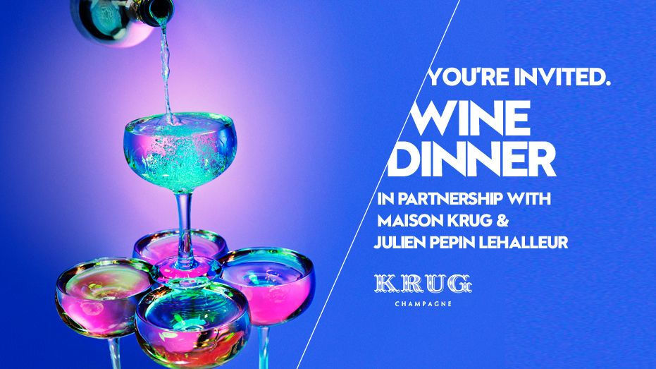 W MALDIVES PRESENTS WINE DINNER WITH MAISON KRUG AND JULIEN PEPIN LEHALLEUR