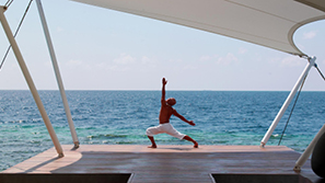 sunrise yoga in w maldives